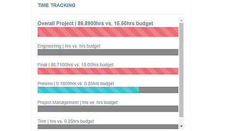 Project Time and Budget Tracking